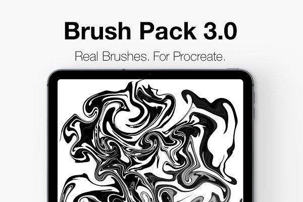 Photoshop Brushes: CalligraphyDK - Procreate Lettering Brush Pack 3.0!