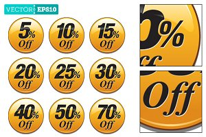 Shopping Sale Discount Badge Yellow