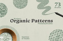 Organic Patterns - Photoshop Brushes by  in Add-Ons