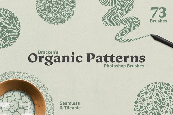 Add-Ons - Organic Patterns - Photoshop Brushes