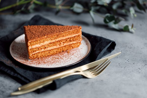 Food Images: Edalin's Store - Piece of chocolate and walnut cake