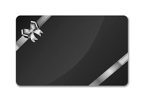 Black blank gift card template