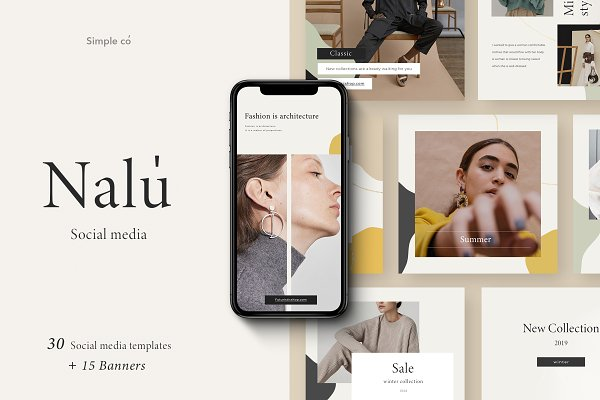 Templates: Simple có - Nalu - Social Media Pack