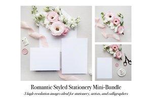 Romantic Stationery Mockup Mini Pink