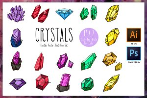 Crystals set