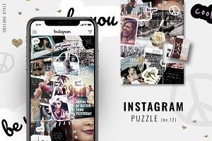 Instagram PUZZLE template - Collage