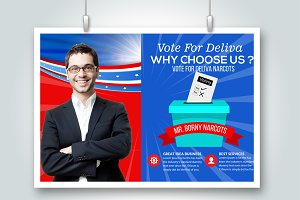 Elections Psd Flyer Card Template