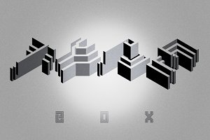 Box | Geometric Display | 4 Fonts
