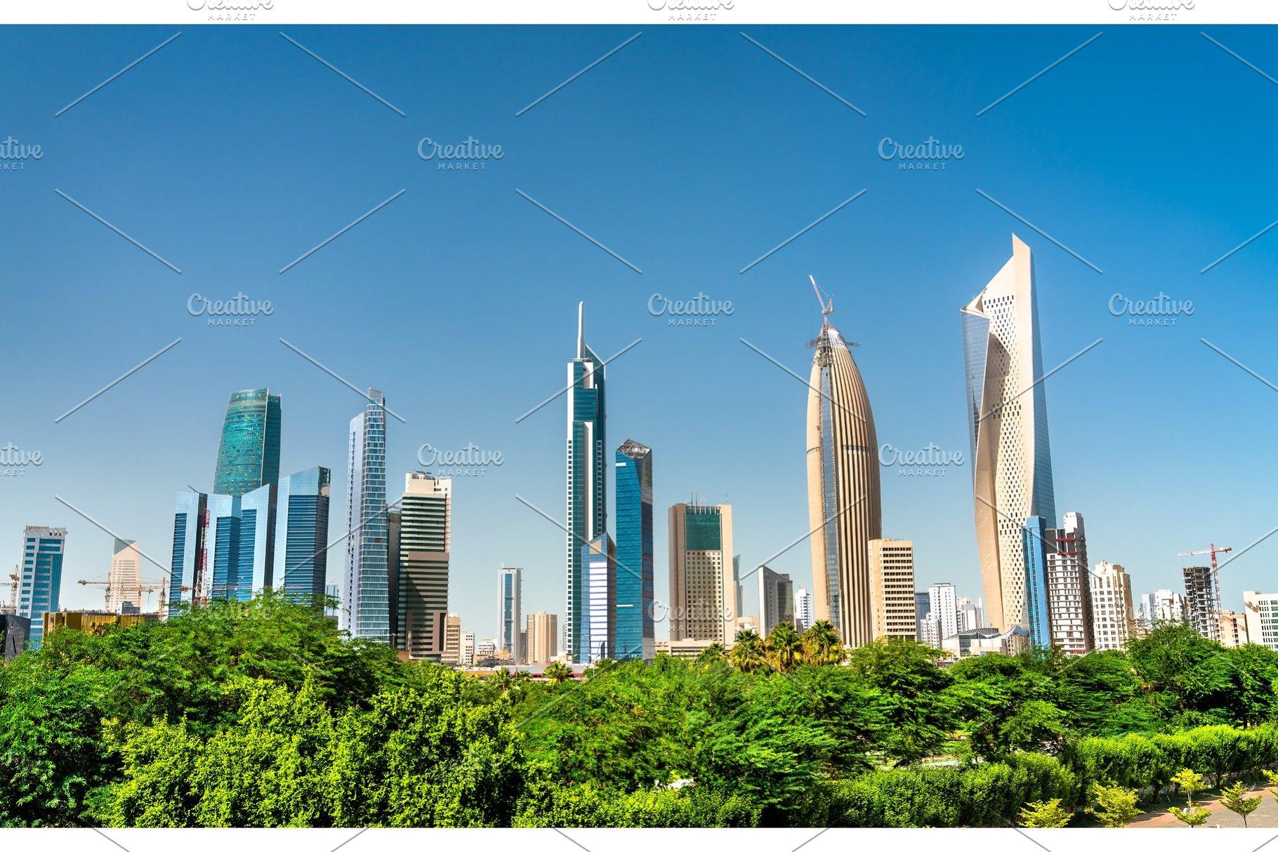 Skyline of Kuwait City at Al Shaheed
