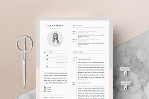 4 page Resume Template | Scandi