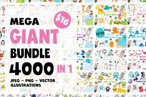 4000 in 1 - GRAPHIC GIANT BUNDLE