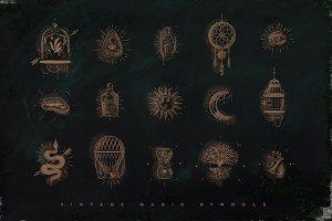 Vintage Magic Symbols