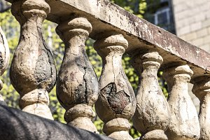 Old broken balusters