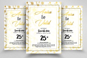 Save The Date Golden Card Templates