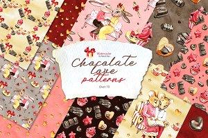 Chocolate love patterns
