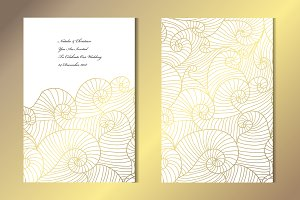 Golden Waves Card Template