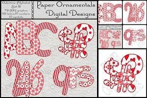 Clip Art, Valentine Alphabet Set 2