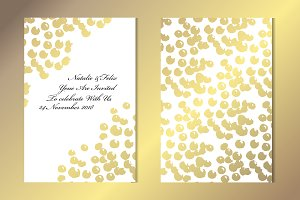 Golden Dots Card Template