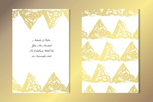 Golden Triangles Card Template