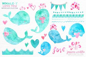 I Whale-y Love You Watercolor