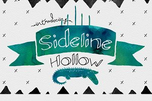 Sideline Typeface - Hollow