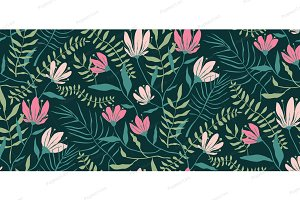 Flowers Seamless Floral Pattern