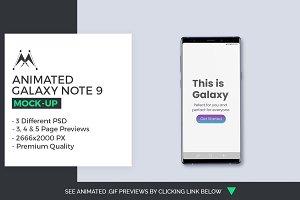 Animated Galaxy Note 9 Mock-Ups