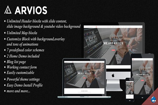 Drupal Themes: 6ixfire - Arvios - Multipurpose Theme