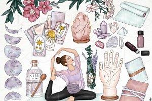 Manifestation Yoga Girl Clip Art