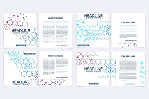 Scientific templates square brochure
