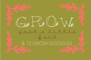 Grow - A Hand Drawn Display Cap Font