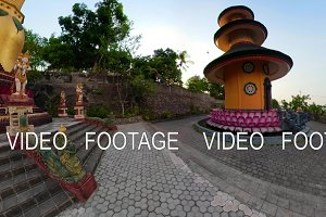 Buddhist temple on the island of