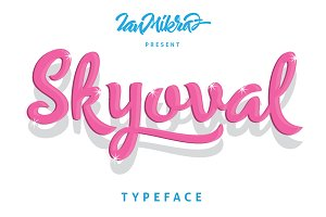 Skyoval Typeface (Intro 30% off)