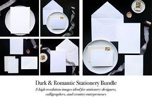 Dark & Romantic Styled Stationery