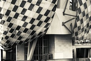 Vuitton Foundation museum reflection