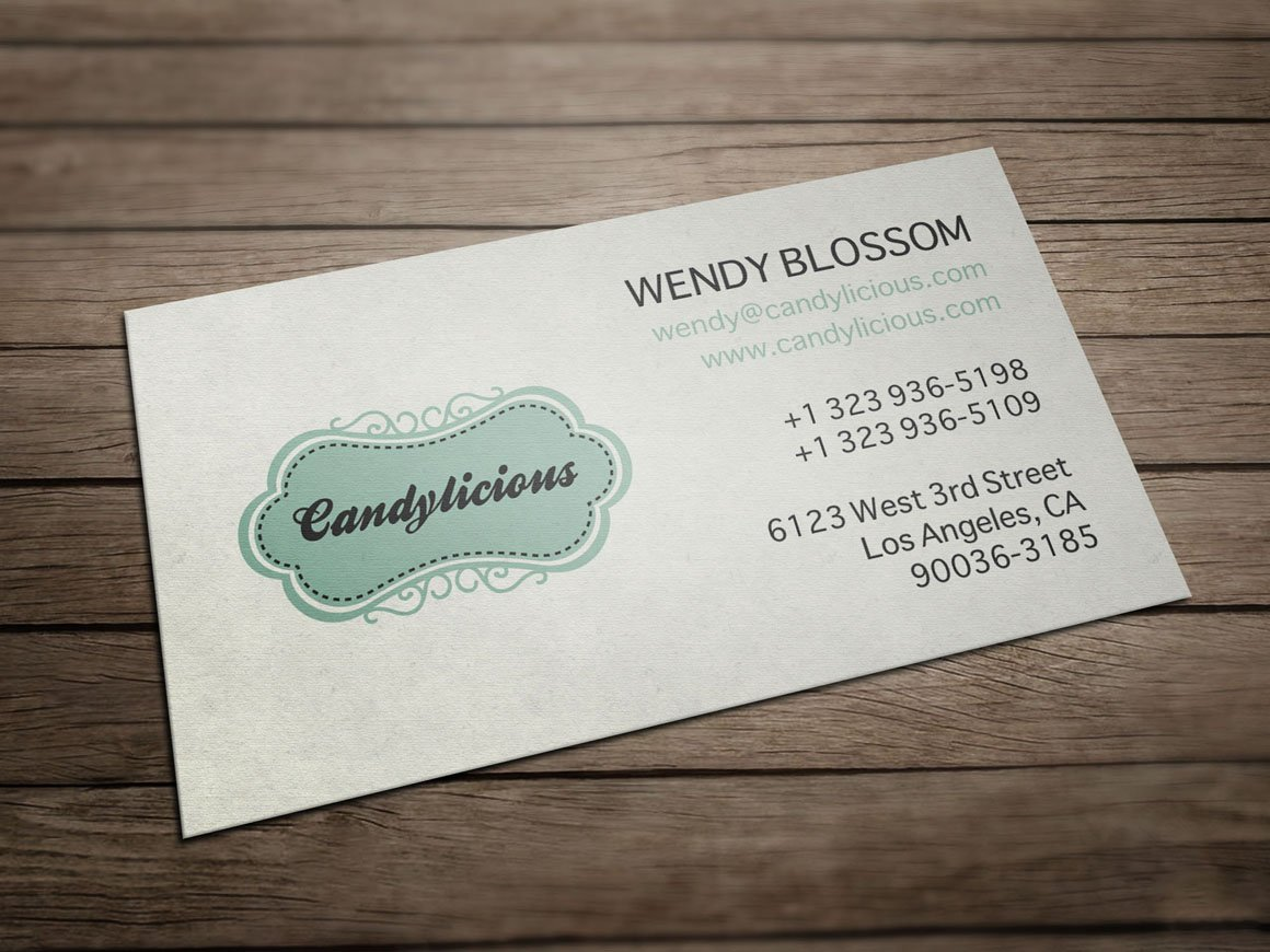 Vintage Candy Store Business Card ~ Business Card Templates ...