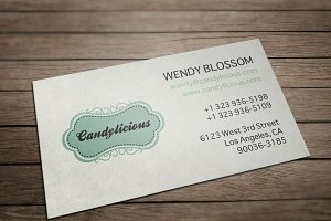 Vintage Candy Store Business Card