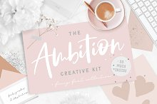 Font Bundle + Collage Graphics