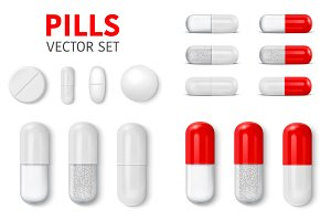 Pills. Vector Set.