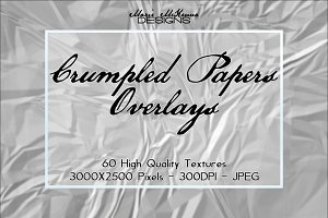 Crumpled Papers Overlays