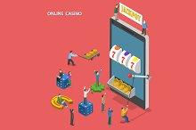 Online casino isometric concept