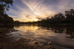 Sunset on the murray river