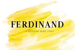 Ferdinand - Modern Serif Font