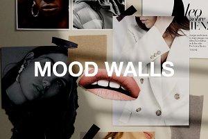 Realistic Mood Wall Mockups