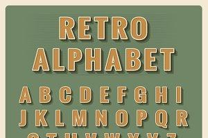 Retro font alphabet
