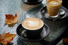 Hot cup of coffee latte  by  in Food & Drink