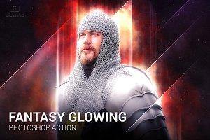 Fantasy Glowing Photoshop Action