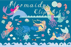 Mermaids Clip Art