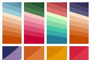 Set of colorful abstract print
