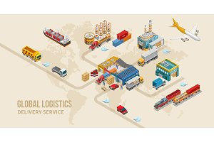Structure of land delivery service